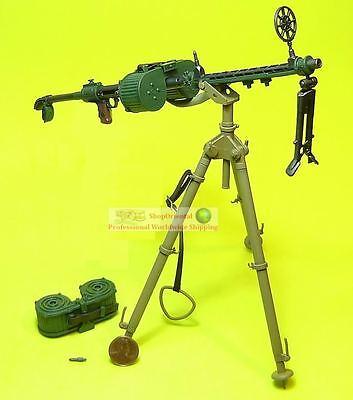 1//6th Scale GI Joe 30 Cal MG w//Tri-pod Metal