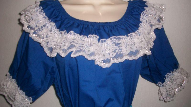 Camicia in Blu Royal _ collo da punta bianco con argentoo _ TAGLIA M, L _ NUOVO   b3009