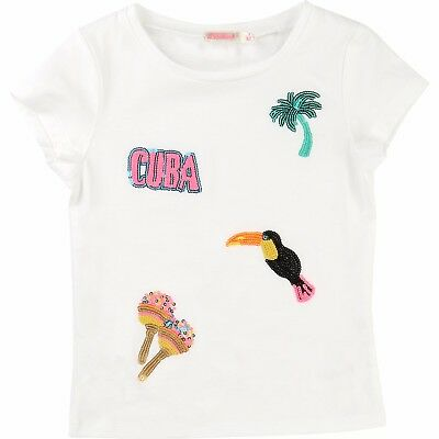Designer BILLIEBLUSH Girls Cream T-Shirt 2Y 3Y 4Y  WAS £30 NOW £14 SALE SALE