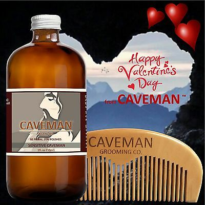 Frugal Hand Crafted Caveman® Beard Oil Beard Conditioner Free Wooden Comb Valentine's Good For Energy And The Spleen Health & Beauty