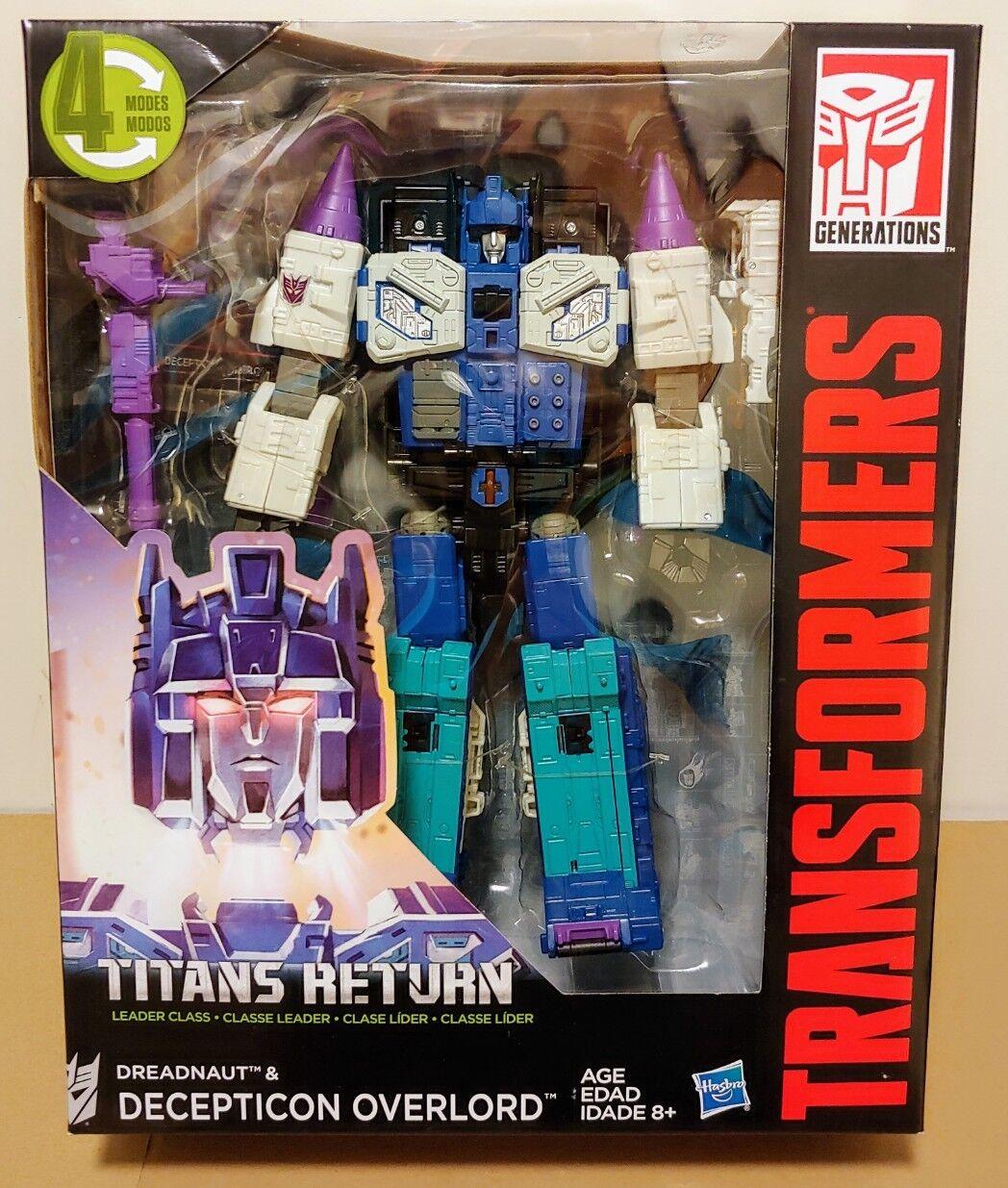 Transformers Titans Return Decepticon Dreadnaut Dreadnaut Dreadnaut & Overlord - Leader Class - New 96d961