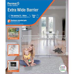 Perma-Child-Safety-Extra-Wide-Barrier-Child-Baby-Gate-Stairway-Divider-Steel