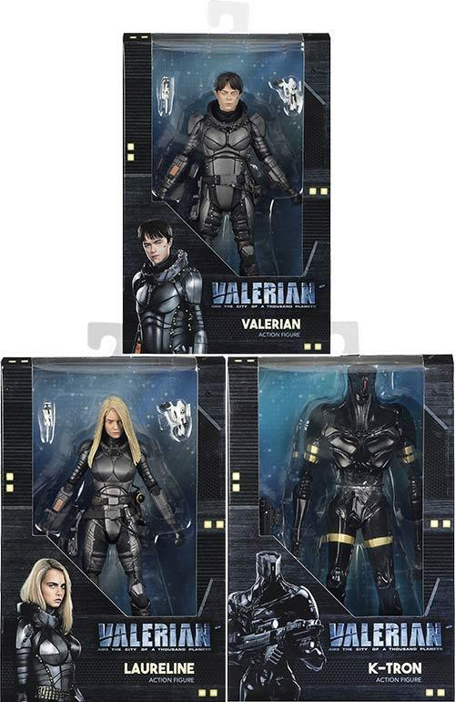 VALERIAN AND THE CITY OF A THOUSAND PLANETS - 7  Action Figure Set (3) NECA  NEW