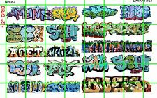 NH082 1/2 Set N SCALE MODERN GRAFFITI TAGGING URBAN CITY BOXCAR DAVE'S DECALS
