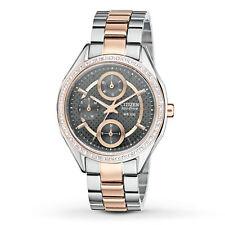 Citizen Women's FD1066-59H Eco-Drive Two Tone Rose Gold Swarovski Crystal Watch
