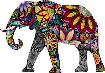 """Cheerful Elephant Animal Cartoon Car Bumper Sticker Decal 5"""" x 4"""""""