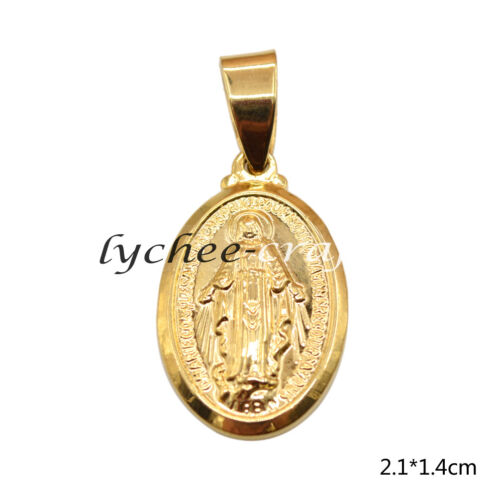 Luxery Blessed Virgin Mary Pendant Mini Gold Tone Charm For Necklace Bracelet