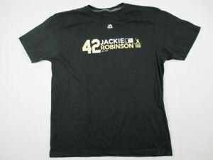 NEW-Majestic-Men-039-s-Black-Short-Sleeve-Shirt-Multiple-Sizes
