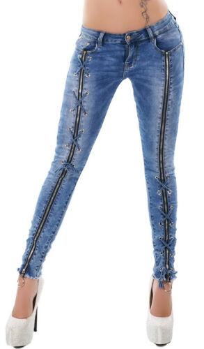 Original Denim Women/'s Zip Skinny Denim Jeans XS//S//M//L
