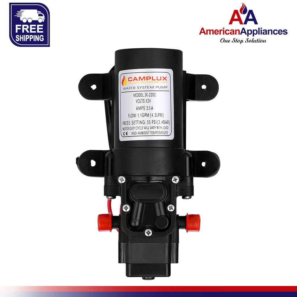 AM 12v Water Pressure Diaphragm Pump 4.3 L//min 1.1GPM 35 PSI-Caravan//Boat//Marine