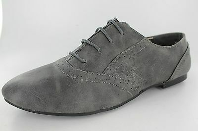 Venta señoras Spot sobre « f8711 lazada Gris Zapato Bajo De Cuero