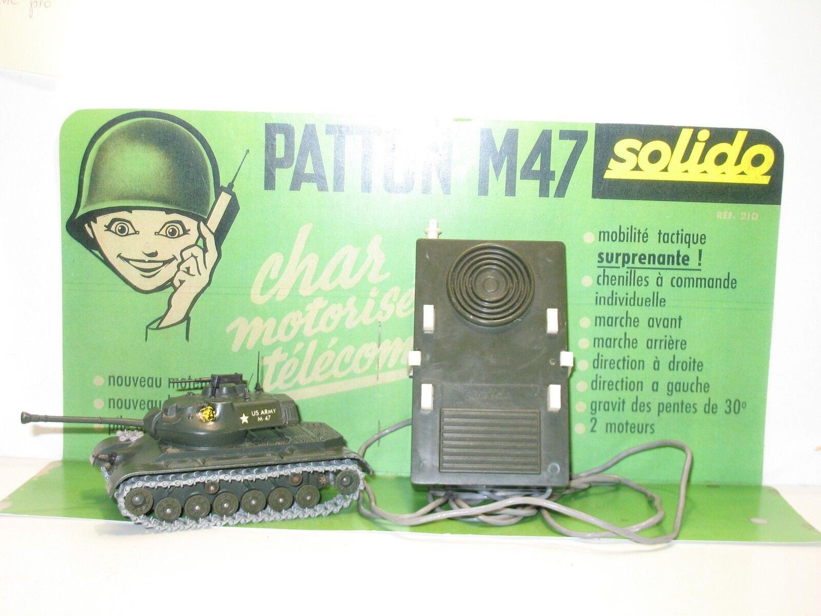 SOLIDO militaire, Char PATTON motorisé télécommandé qui fonctionne, 1ére version