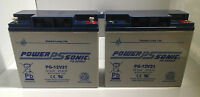2 X Power Sonic 12v 21ah (17 18 20)ah Agm Mobility Scooter Wheelchair Batteries