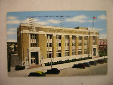 VINTAGE LINEN POSTCARD POST OFFICE AND COURT HOUSE IN ABILENE, TEXAS 1944