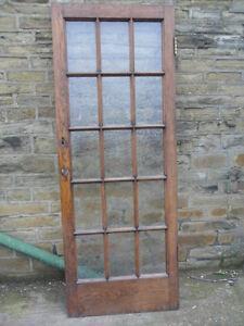 ... heavy-antique-oak-georgian-glazed-style-1920s-door- & heavy antique oak georgian glazed style 1920s door oak 15 glass ... Pezcame.Com