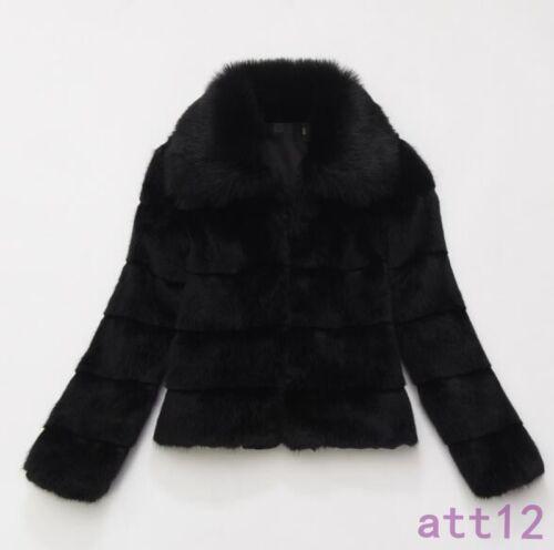 Frakke Womens Fashion New Mink Vinter Parka Fox Pocket Jakke Varm Kort Fur 8WnBBpT