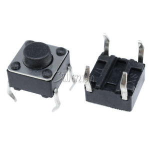 50Pcs Tactile Push Button Switch Tact Switch 6X6X4.3mm 4-pin DIP
