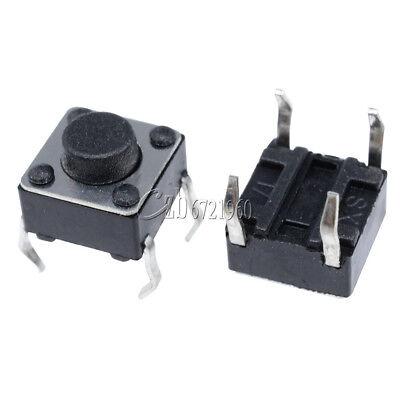 50Pcs NEW Tactile Push Button Switch Tact Switch 6X6X13mm 4-pin DIP