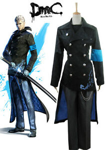 Devil may cry dmc 5 vergil cosplay costume long coat jacket custom image is loading devil may cry dmc 5 vergil cosplay costume voltagebd Choice Image