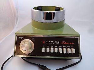 Vintage-1970s-WARING-Avocado-Green-Blender-Base-Futura-900-Works-8-Speeds