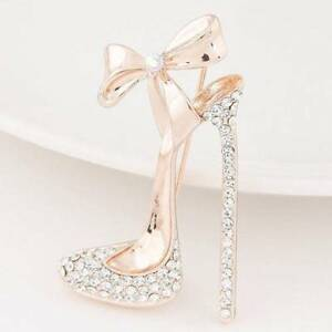 ce6d2a5207 Fashion Womens 18k Gold Filled Austrian Crystal High Heels Shoes ...