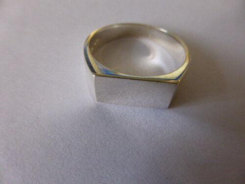 Plata Esterlina oblongo Signet Ring 14x7 Mm del Reino Unido Hallmark