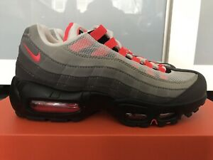 Details about Nike Air Max 95 (Size 6 Men's7.5 Women) White Solar Red Granite Dust AT2865 100