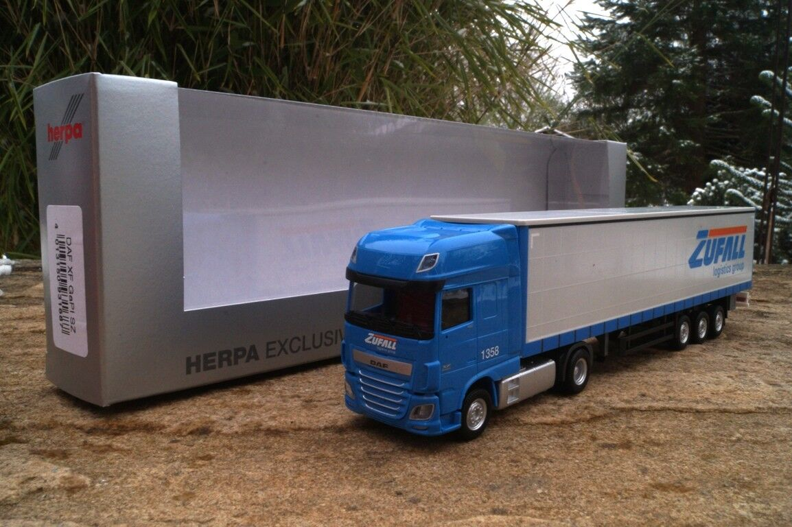 HERPA DAF XF SSC rideaux planifier semi-remorque  Hasard  1 87 nouveau Modèle exclusivement