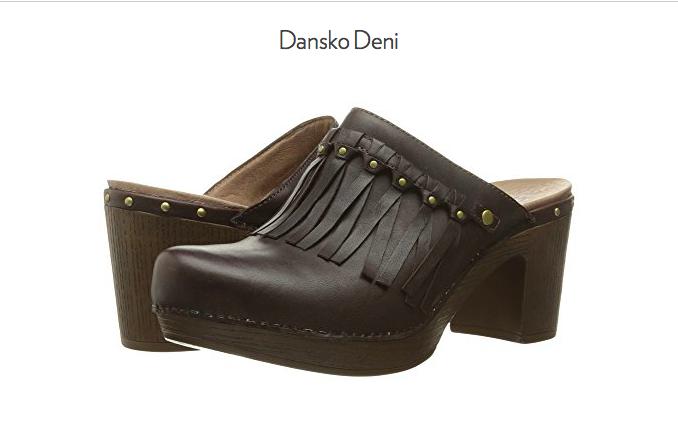 NEW Dansko DENI Leather Slip-On Slip-On Slip-On Clogs 7.5 - 8 EURO 38 DARK BROWN 130d24