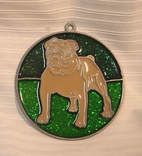 NEW Old Stock New Fawn Tan American Bulldog Suncatcher Metal Resin FREE S/&H
