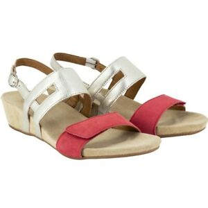 BENVADO-ERICA-WOMEN-039-S-SANDALS-REAL-LAMINATED-RED-PLATINUM-LEATHER