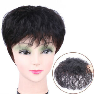 Details about Women Men Top Wig Aged Hairloss