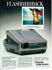 PUBLICITE ADVERTISING 115  1987  POLAROID  appareil photo FLASH ELECTRONIQUE IMA