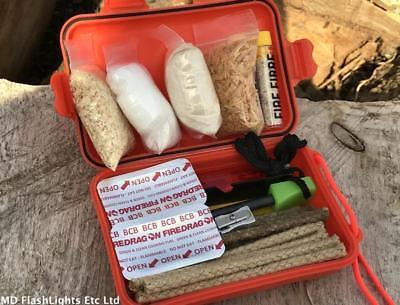 Analitico Ultimate Impermeabile Fuoco Tinder Kit Xl Bushcraft Sopravvivenza Edc Campeggio-mostra Il Titolo Originale Rinfrescante E Arricchente La Saliva