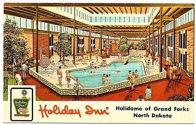 Grand Forks North Dakota Postcard Holiday Inn Holidome Of Grand Forks #77065 | eBay
