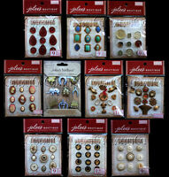 Jolee's French General Parcel Charms Gems Stones Resin Cameos Stickers One Pack