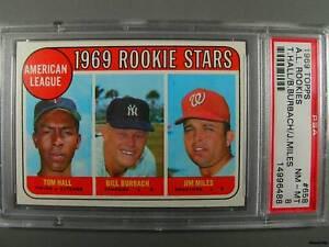 1969-Topps-658-Rookies-HALL-BURBACH-MILES-PSA-NM-MT-8