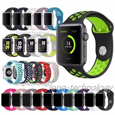 Replacement Bracelet For Apple Watch Silicone Sport Band 38mm 42mm iWatch Strap