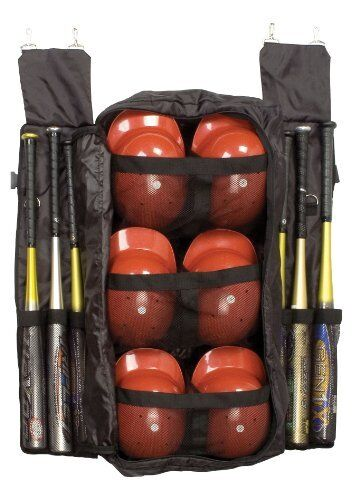 Baseball Bat Helmet Bag   Hanging Dugout Travel Bags 6 Bats 6 Helmets