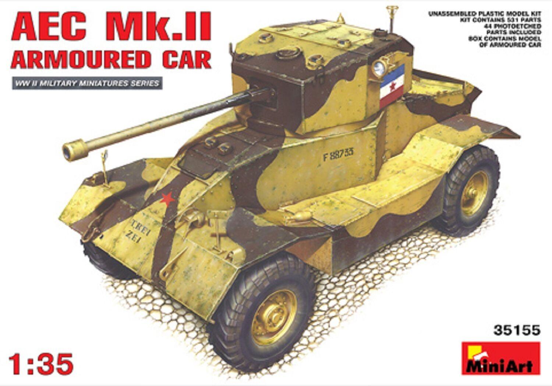 MIN35155 - Miniart 1 3 5 - AEC modello 2 AUTOBLINDO Modello Plastica KIT