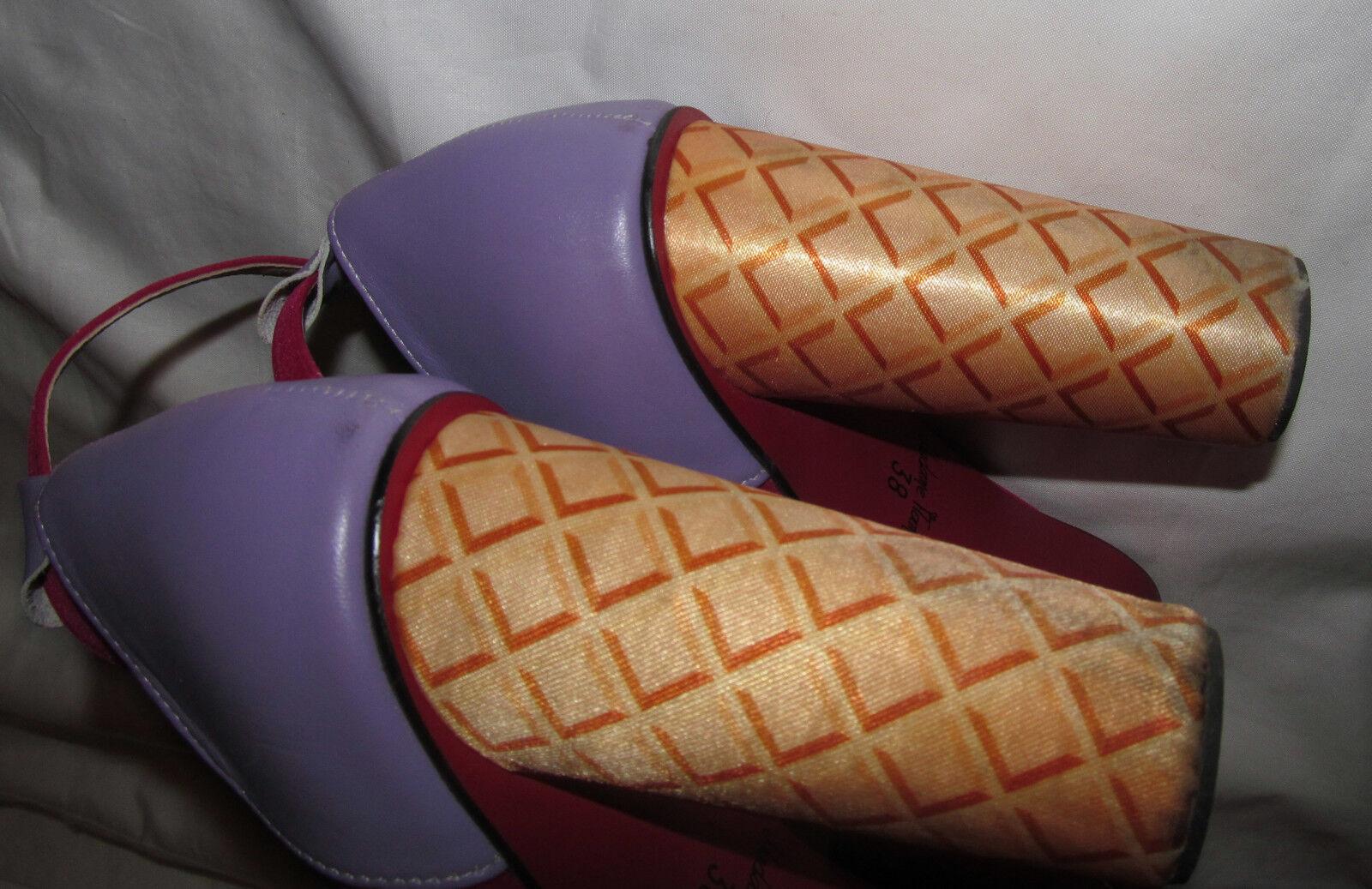 MADAME FLAMINGO FLAMINGO FLAMINGO velvet lila fuchsia ice cream cone kawaii schuhe 38 8 M 4b111c