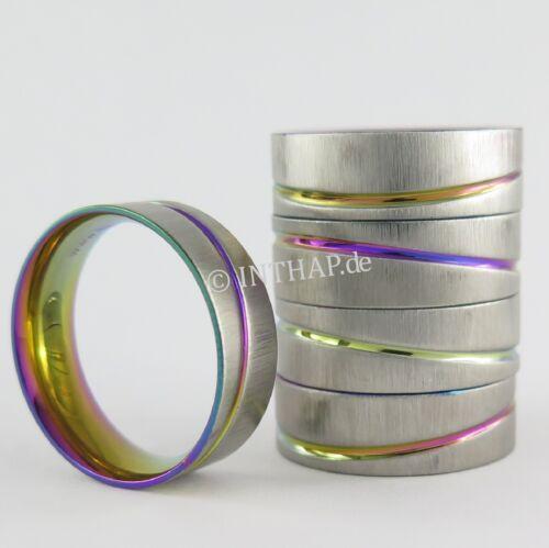 Ring - Edelstahlring Damenring Herrenring Fingerring Laser farbig Edelstahl 501n