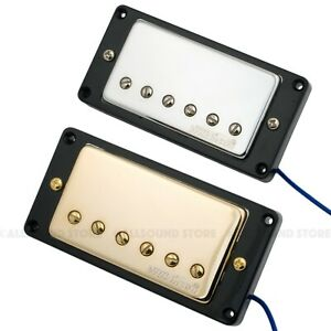 wilkinson 39 hot 39 humbucker pickups for gibson epiphone mwchb chrome gold new ebay. Black Bedroom Furniture Sets. Home Design Ideas