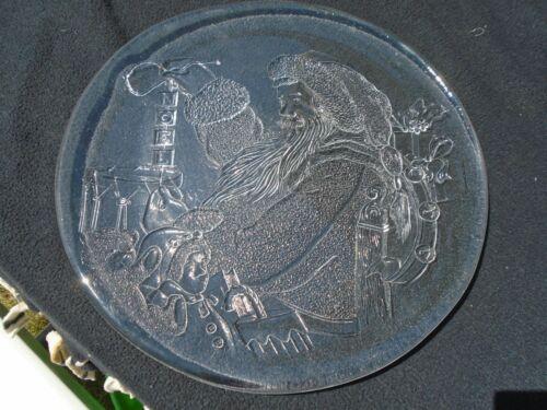 Clear Glass Christmas Scene Platters