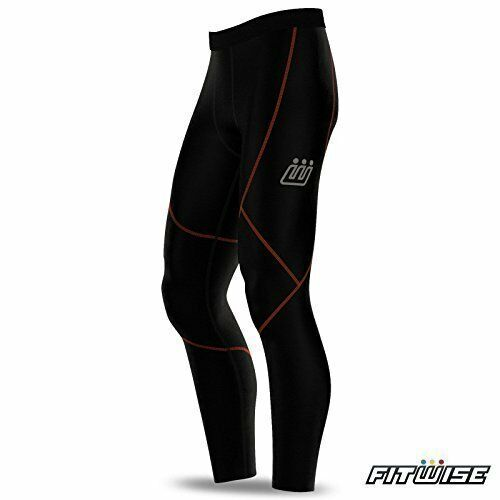 a777d95ad7a7 Compression Base Layer Tights Mens Pants Under Wear Shorts Long Leggings  XXL Black   Orange Thread