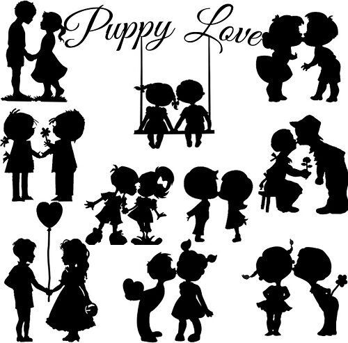 Die Cut Outs Silhouette Couples x 10 Romance Weddings Valentines Engagement
