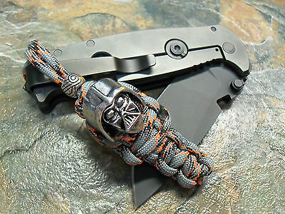 DIECAST PARACORD KNIFE LANYARD W/ DARTH VADER HELMET & BEAD AMERICAN MADE