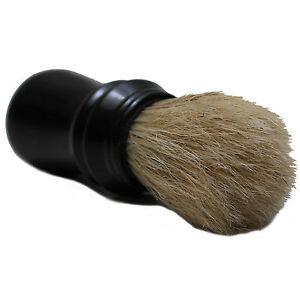 Rasierpinsel-Naturborsten-Thermogriff-schwarz-zum-Rasierschaum-auftragen