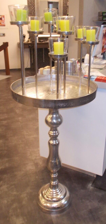 Kerzenhalter Teelichthalter Silber Designer 153cm 9 Kerzen Einzelstück Neuwertig