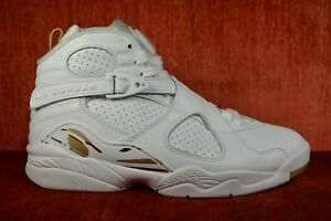 3bcd112243aa CLEAN NIKE AIR JORDAN RETRO 8 OVO WHITE GOLD DRAKE AA1239-135 SIZE 8 ...